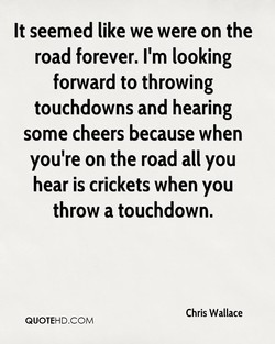 It seemed like we were on the 