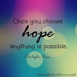 Once you choose 