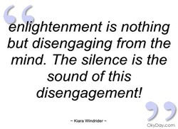 enlightenment is nothing 
