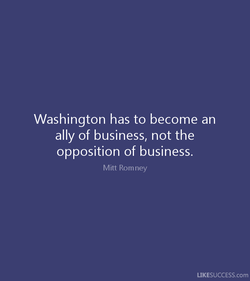 Washington has to become an 