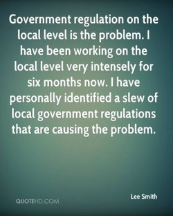 Government regulation on the 