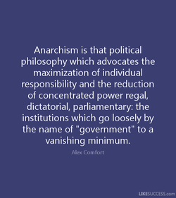 Anarchism is that political 