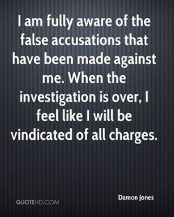 I am fully aware of the 