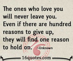 The ones who love you 