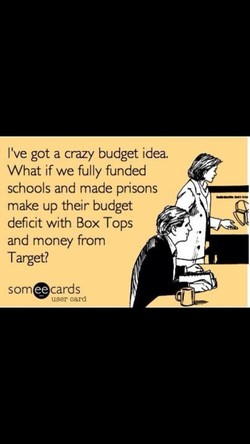 I've got a crazy budget idea. 