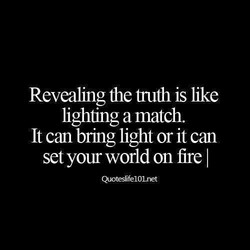 Revealing the fruth is like 