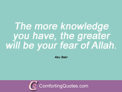 The more knowledge 