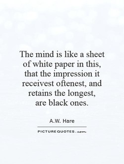The mind is like a sheet 