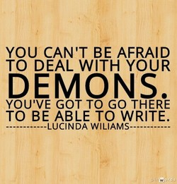 YOU CAN'T BE AFRAID 