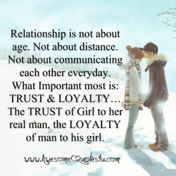 Relationship is not about 