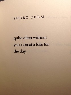 SHORT POEM 