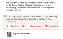 Bryan Stevenson is the founder and executive director 