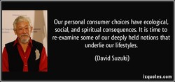 Our personal consumer choices have ecological, 