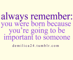always remember: 
