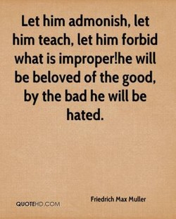 Let him admonish, let 