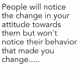 People will notice 
