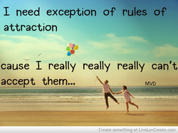 I need exception of rules of 
