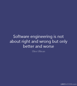 Software engineering is not 