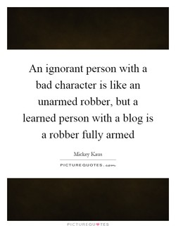 An ignorant person with a 