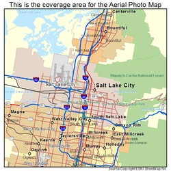 This is the coverage area for the Aerial Photo Map 