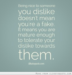 Being nice to someone 