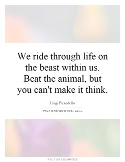 We ride through life on 