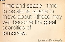 Time and space - time 
