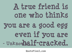 A true friend is 