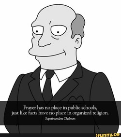 Prayer has no place in public schools, 