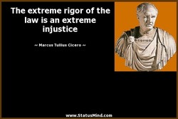 The extreme rigor of the 