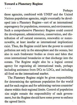 Toward a Planetary Regime 