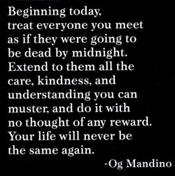 Beginning today, 