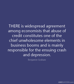 THERE is widespread agreement 