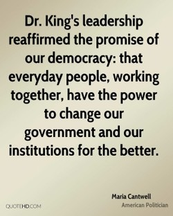 Dr. King's leadership 
