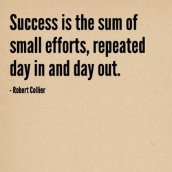 Success is the sum of 