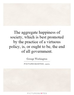 The aggregate happiness of 