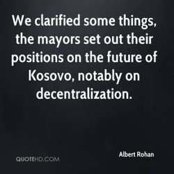 We clarified some things, 