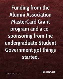 Funding from the 