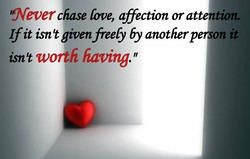 'ffeverchase fre, affection or attention. 