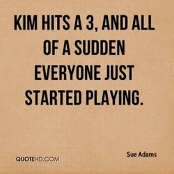 KIM HITS A 3, AND ALL 