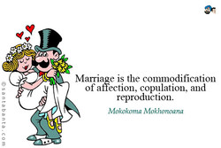 Marriage is the commodification 