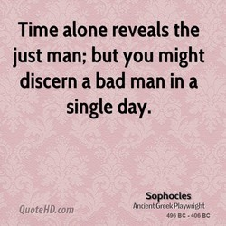 Time alone reveals the 