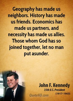 Geography has made us 
