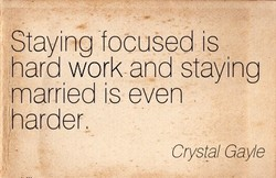 Staying focused is 