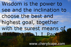 Wisdom is the power to 