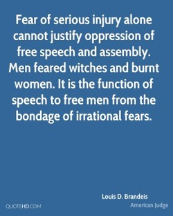 Fear of serious injury alone 