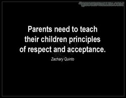 Parents need to teach 
