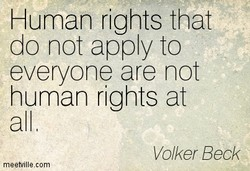 Human rights that 