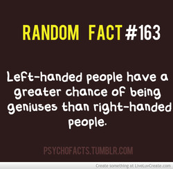 RANDOM FACT #163 