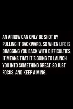 AN ARROW CAN ONLY BE SHOT BY 